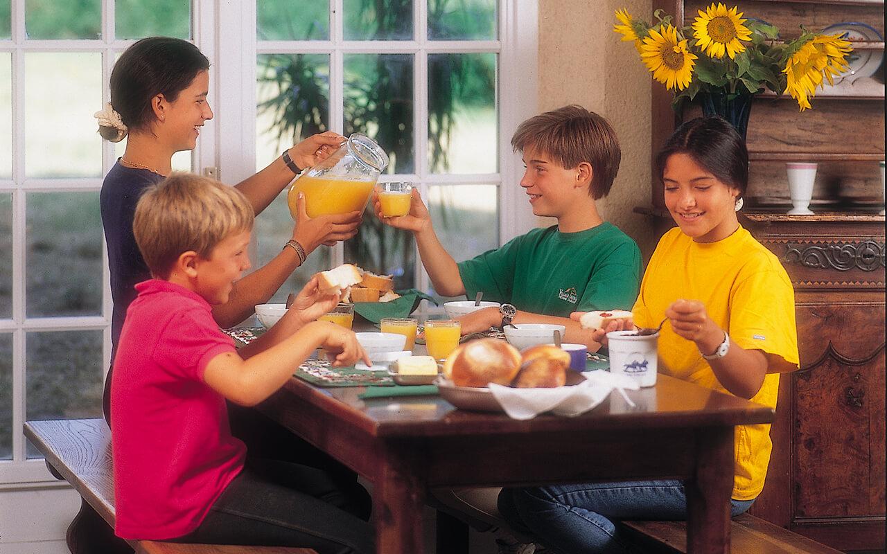 stage équitation enfant petit déjeuner